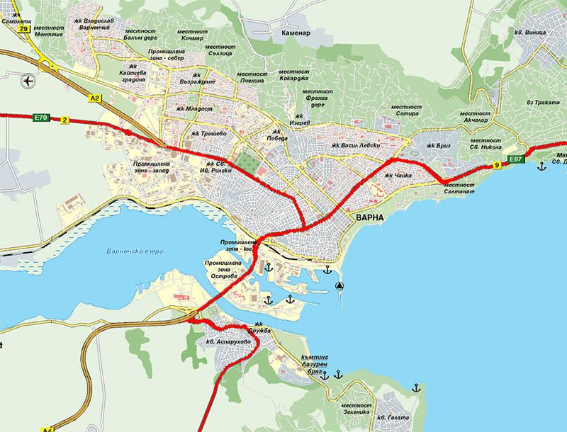 Reallbg Real Estate Varna Vinitsa House Offers By REall - Varna map